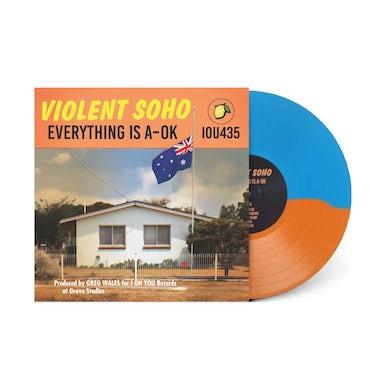 Violent Soho / Everything is A-OK (Blue and Orange) vinyl