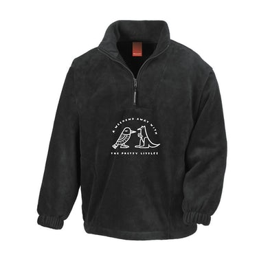 The Pretty Littles Weekend Away White Embroidery / Black 1/4 Zip Jumper