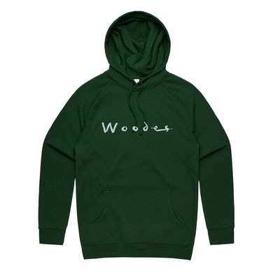 Woodes Crystal Ball / Forest Green Embroidered Hoodie