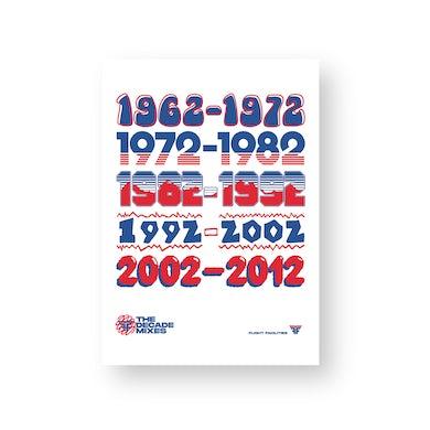 Flight Facilities Decades / Poster (Limited Edition) ***PRE-ORDER***