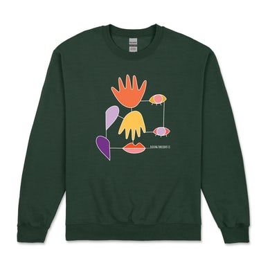 Everyday Lines / Forest Green Crew Sweater