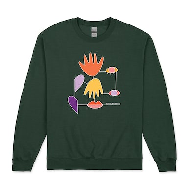 Rolling Blackouts Coastal Fever Everyday Lines / Forest Green Crew Sweater