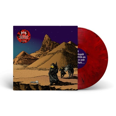 """Dr. Colossus / 'I'm A Stupid Moron' Red/Black Marble 12"""" Vinyl"""