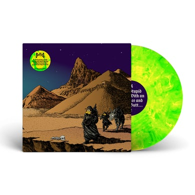 """Dr. Colossus / 'I'm A Stupid Moron' Yellow/Green Marble 12"""" Vinyl"""