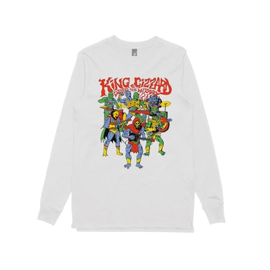 King Gizzard & The Lizard Wizard Masters / White Longsleeve T-shirt