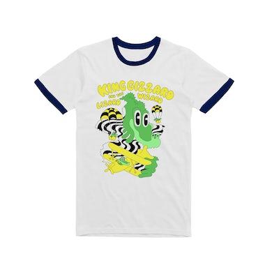 King Gizzard & The Lizard Wizard Balloon Dragons / Navy Ringer White T-shirt