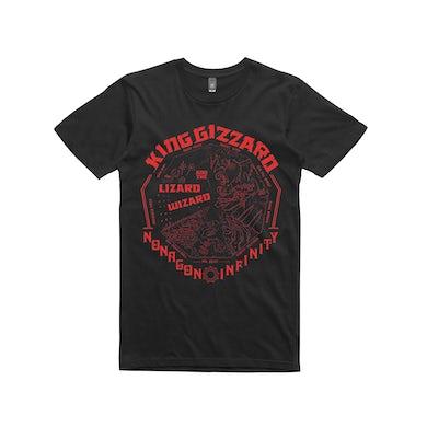 King Gizzard & The Lizard Wizard Nonagon Mono / Black T-shirt
