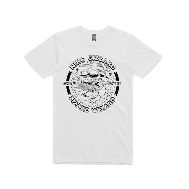King Gizzard & The Lizard Wizard Gator / White T-shirt