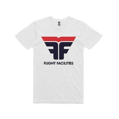 Flight Facilities FF Logo / White T-shirt
