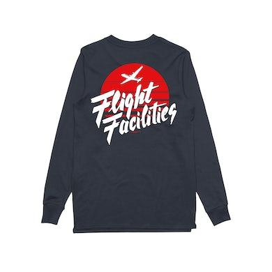 Flight Facilities Sunrise Bomber / Navy Longsleeve T-shirt