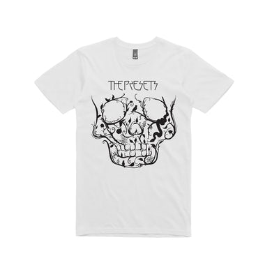The Presets Black Skull / white t-shirt