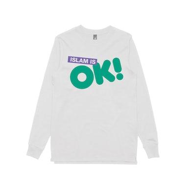 Schwipe Islam is OK! / White Longsleeve T-shirt