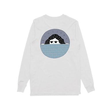 Big Scary Peeping Tom / White Longsleeve T-shirt