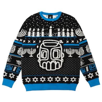 Line Sketch Hanukkah Knit Sweater