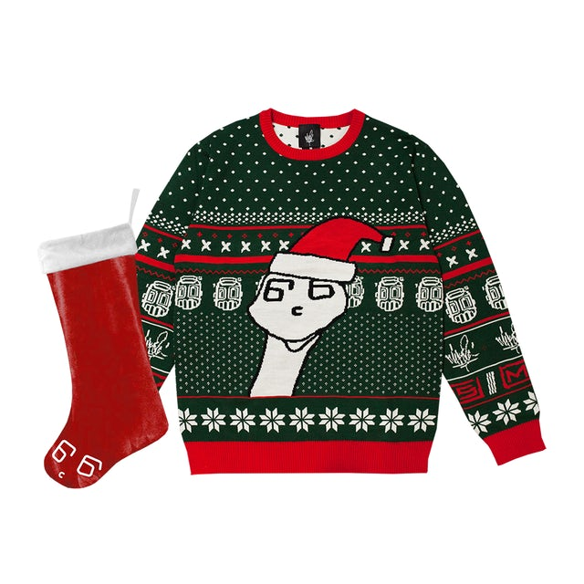 Mike Shinoda Boris Holiday Sweater & Stocking Bundle