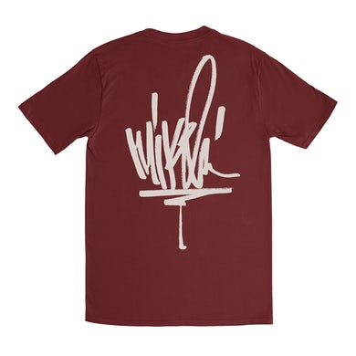 Mike Shinoda MS Signature Maroon Tee
