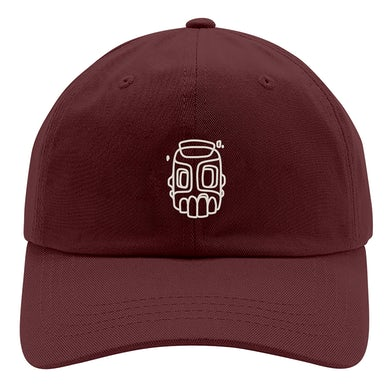 Mike Shinoda Line Sketch Maroon Hat