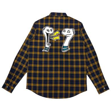 Mike Shinoda Boris & Oatmeal Embroidered Flannel