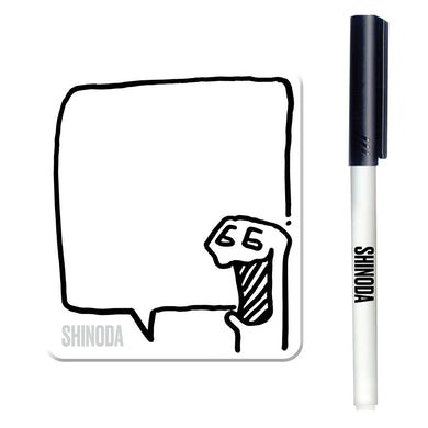 Mike Shinoda Boris Dry Erase Magnet & Marker Set