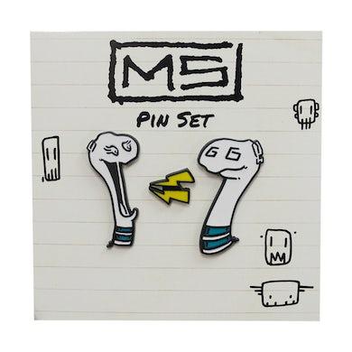 Mike Shinoda Boris & Oatmeal Enamel Pin Set