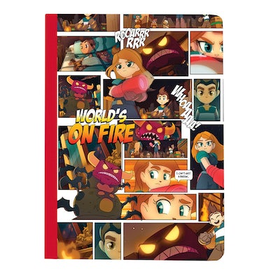 Mike Shinoda World's On Fire Lined Notebook