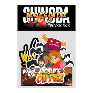 Mike Shinoda World's On Fire Sticker Pack