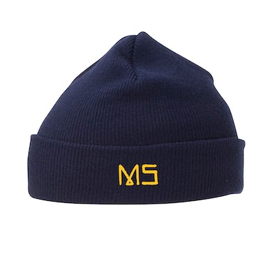 Mike Shinoda MS embroidered Navy Knit Beanie