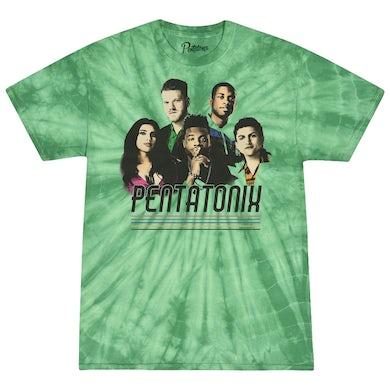 Pentatonix Green Tie Dye Group Tee
