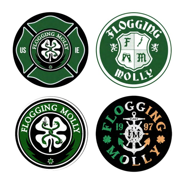 Flogging Molly FM Coaster Set