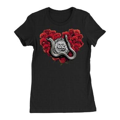 Whitesnake Rose Heart Black Ladies Tee