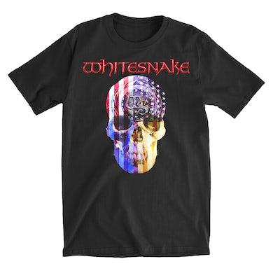 Whitesnake US Skull Tee