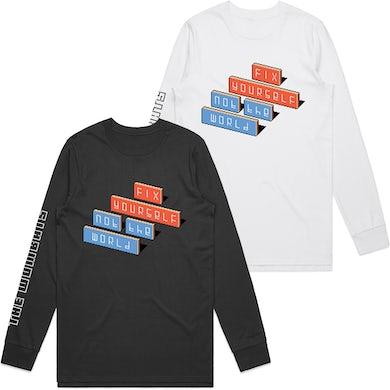 The Wombats Fix Yourself, Not The World Logo Long Sleeve T-Shirt
