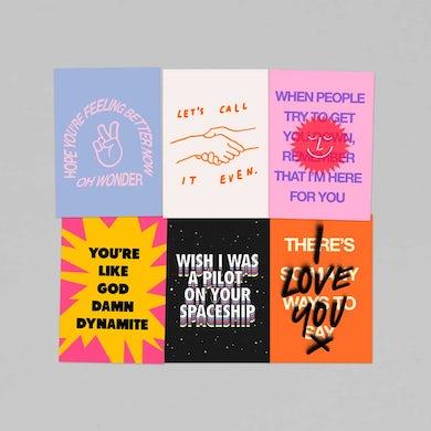 Oh Wonder Pack Of 6 x Postcards