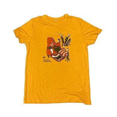 Cabbage Amanita Pantherina Screen Printed Mustard T-Shirt