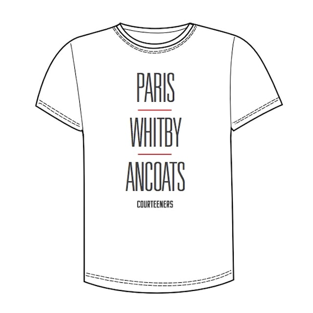 Courteeners Paris, Whitby, Ancoats White T-Shirt