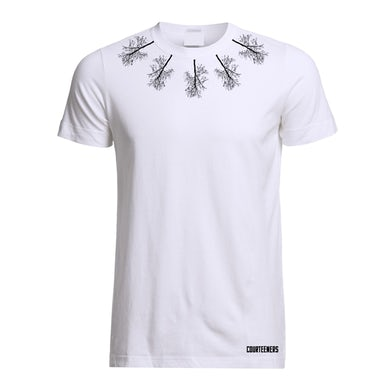 Courteeners Neckline Trees White T-Shirt