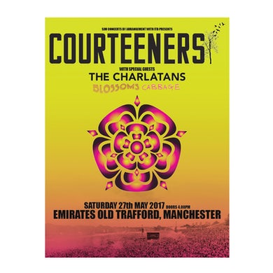 Courteeners Old Trafford A3 Art Print