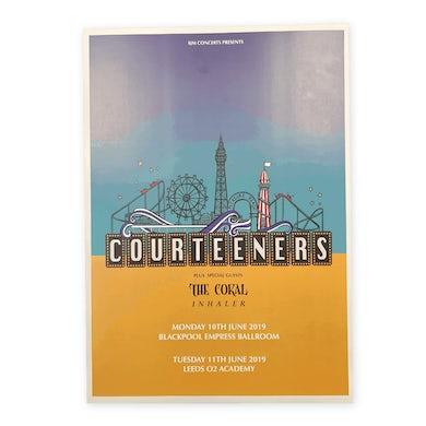 Courteeners Blackpool & Leeds Gig Poster Print