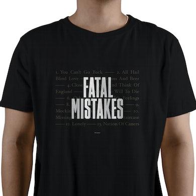 Del Amitri Black Text T-shirt