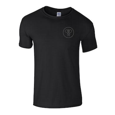 Grey On Black Small Logo T-Shirt