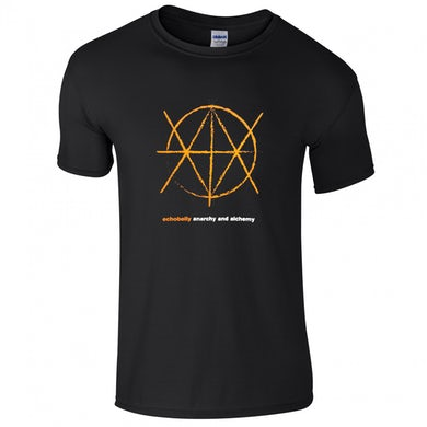 Echobelly Anarchy And Alchemy Red Print Black T-Shirt