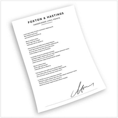 People Are Expensive - Signed Handwritten Lyric Sheets