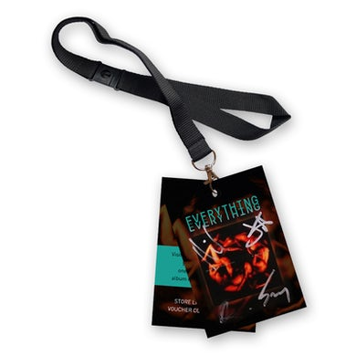Everything Everything Signed Laminate & Lanyard