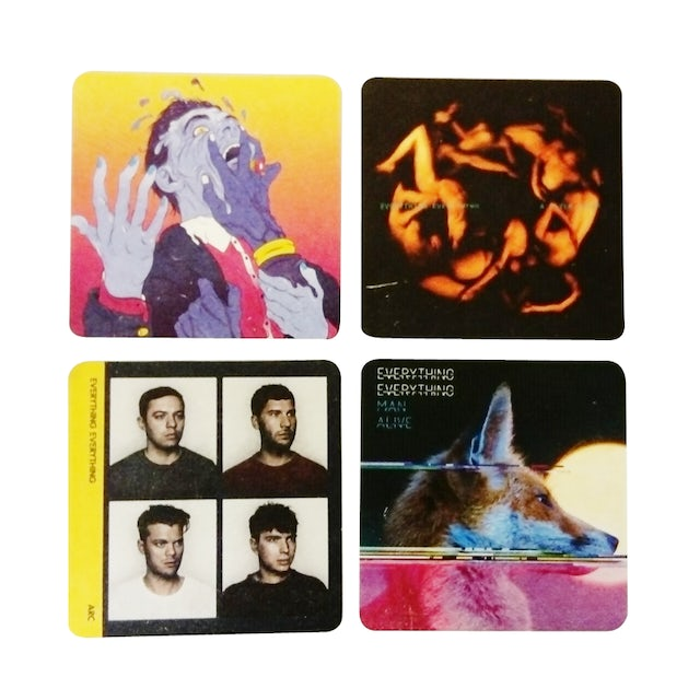 Everything Everything 4 x Beer Mats