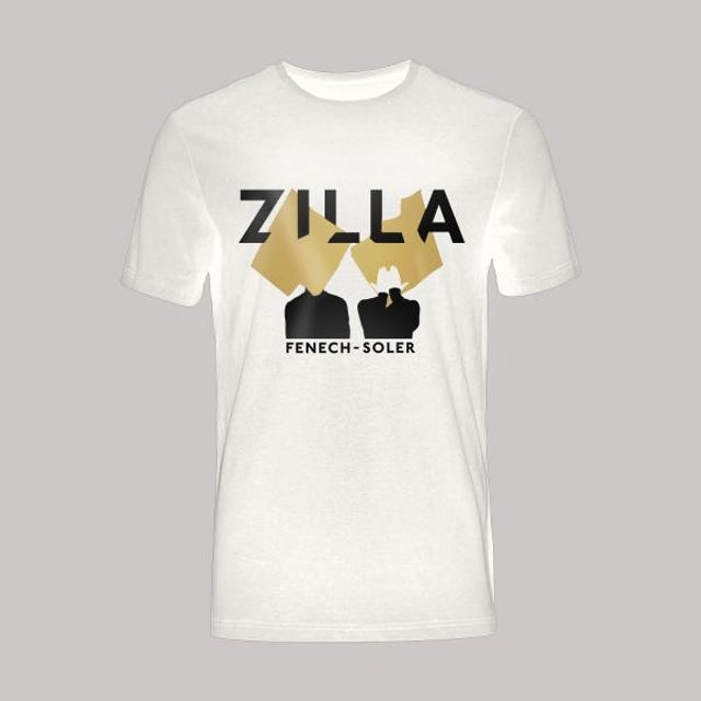 Fenech-Soler Zilla Silhouette White T-Shirt