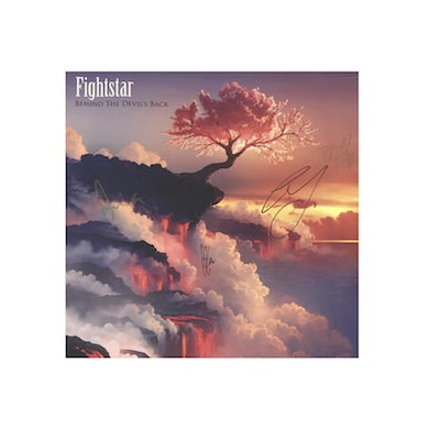 Fightstar Behind The Devil's Back Signed Canvas Picture