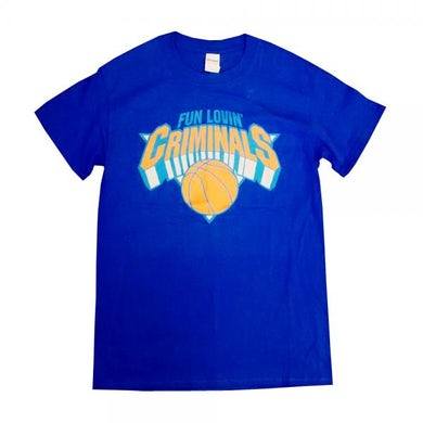 Fun Lovin Criminals Blue Basketball T-Shirt