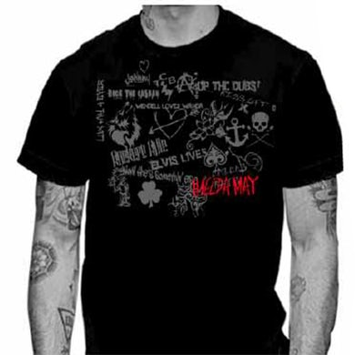 Black Tribal Tour Mens T-Shirt