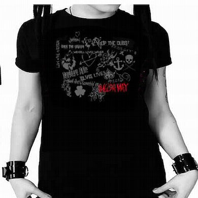 Black Tribal Tour Ladies T-Shirt