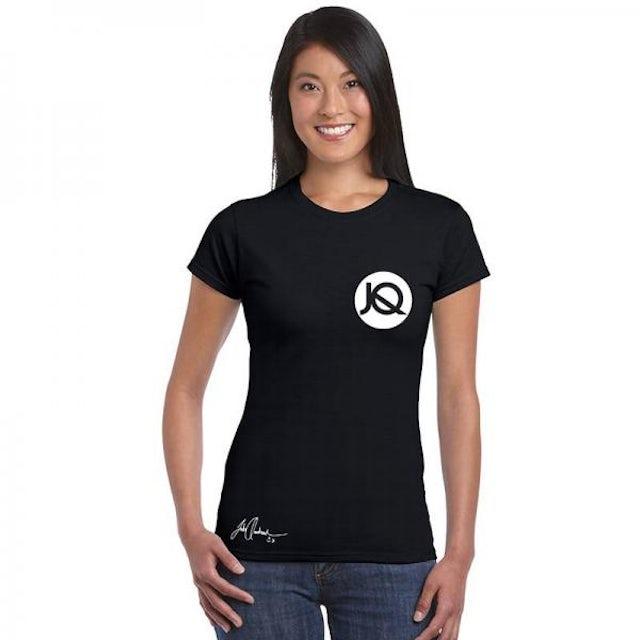 Jake Quickenden Logo Black Women's Slim-Fit Continental T-Shirt